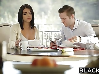 BLACKED Brunette Adriana Chechik Takes Trio of BBCs anal brunette double penetration video