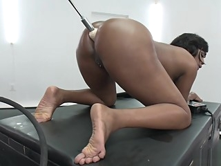 Huge tits ebony machine anal fucked toys big tits hd video