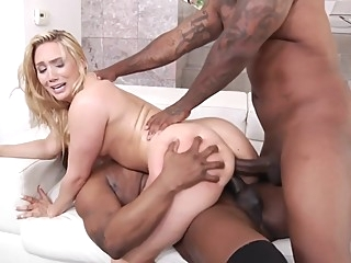 4.J. 4ppl3g4t3 DP ANAL BBC vs PAWG 1080p threesome anal interracial video